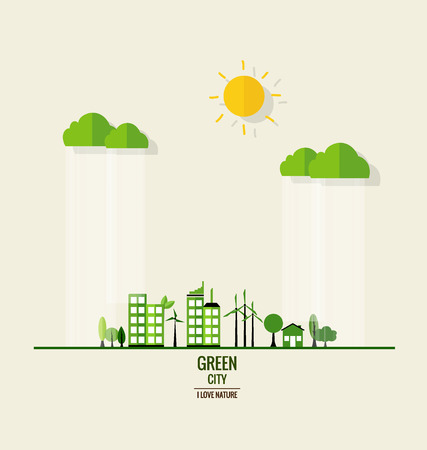environmentally friendly: Environmentally friendly world. Ecology concept. Vector illustration.