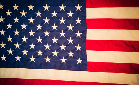 the united states flag: American flag ( Filtered image processed vintage effect. ) Stock Photo