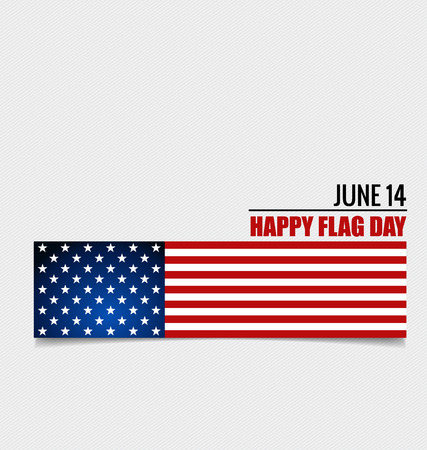 fourteenth: American Flag Day, 14 of June Flag Day. Vector illustration.