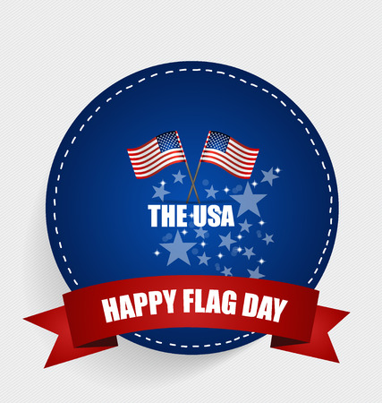 14: American Flag Day, 14 of June Flag Day. Vector illustration.