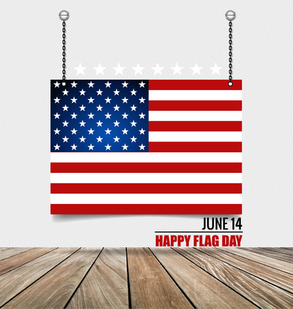 American Flag Day, 14 of June Flag Day. Vector illustration.