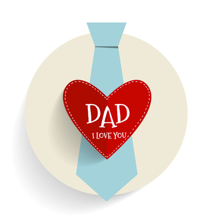 happy fathers day card: Happy fathers day card design with Big Tie. Vector Illustration.
