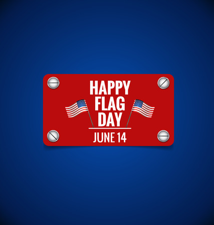 fourteenth: American Flag Day, 14 of June Flag Day. Vector illustration.