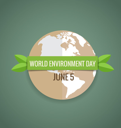 Nature banner. World environment day concept. Vector illustration.