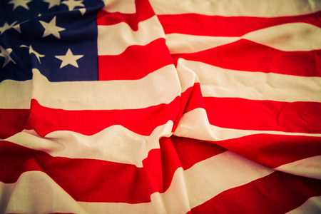 American flag ( Filtered image processed vintage effect. ) photo