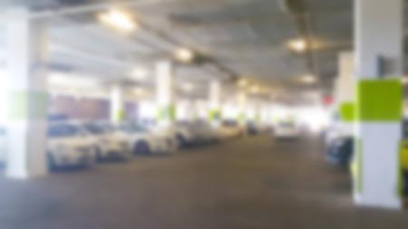 multi story car park: Abstract blur Parking garage
