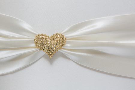 diamond shape: Heart shape diamond on fabric