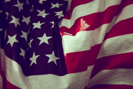 anthem: American flag in water ( Filtered image processed vintage effect. ) Stock Photo
