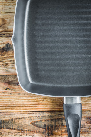 panful: Grill pan on wood