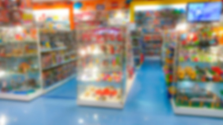 toy shop: Abstract blur toy shop