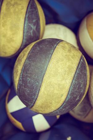 voleibol: Voleibol Viejo (imagen filtrada procesada efecto vintage.)