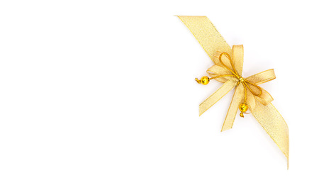 papier vierge: Blank paper and gold ribbon