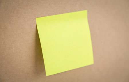 sticky notes: Sticky note on board Stock Photo