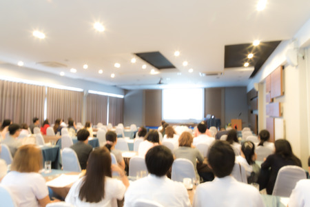 抽象的なぼかしビジネス会議とプレゼンテーション