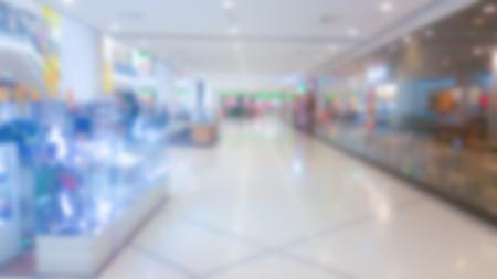shopping mall interior: Abstract blur shopping mall interior Stock Photo