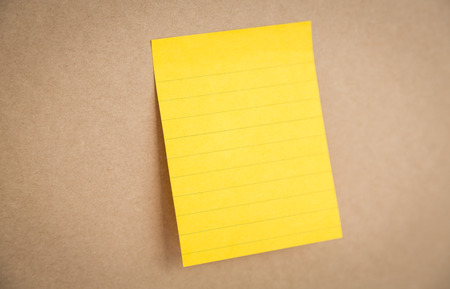 sticky: Sticky note on board Stock Photo