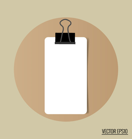 paper notes: Paper notes. Vector Illustration.