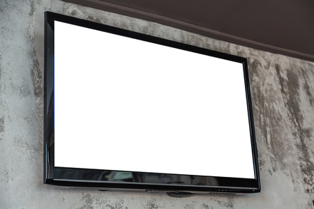 flat panel monitor: TV screen on wall