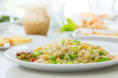 indian food: Fried Rice with Vegetables