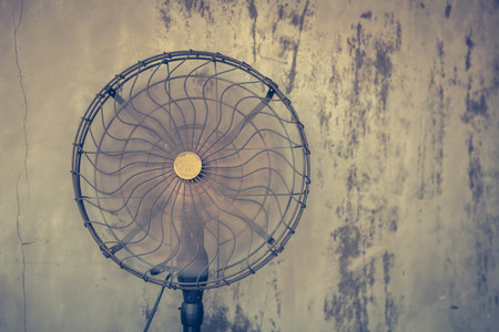 electric fan: Vintage electric fan ( Filtered image processed vintage effect. )