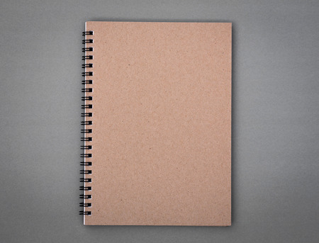 notebook design: Recycled paper notebook Stock Photo