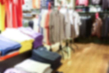 clothing store: Abstract blur  Interior of clothing store Stock Photo