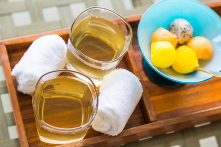 stimulated: Ice tea with fruit