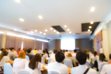 business event: Abstract blur Business Conference and Presentation