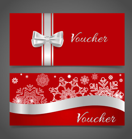 christmas savings: End of year sale savings labels set, price tag, sale coupon, voucher. Christmas template Design vector illustration.