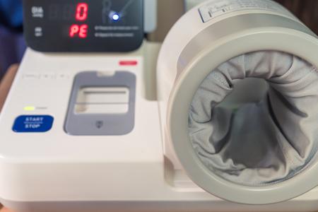 blood pressure monitor: Blood pressure machine Stock Photo