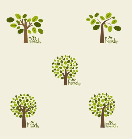 olivo arbol: Árboles abstractos. Ilustración del vector.