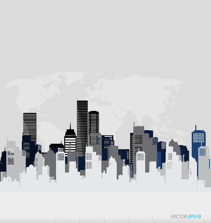 company building: Creative building design template, for your company, vector illustration