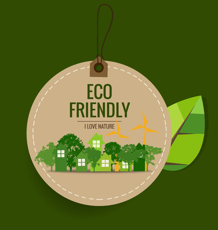 energy save: Nature banner, Eco organic labels and cards with Abstract trees. Vector illustration.