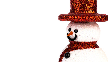snowman isolated: Snowman isolated on white