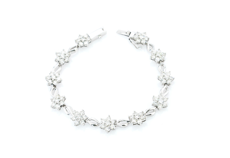 Diamond necklace on a white background Zdjęcie Seryjne
