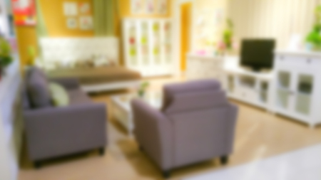 comfortable: Abstract blur Interior of modern comfortable hotel room Stock Photo