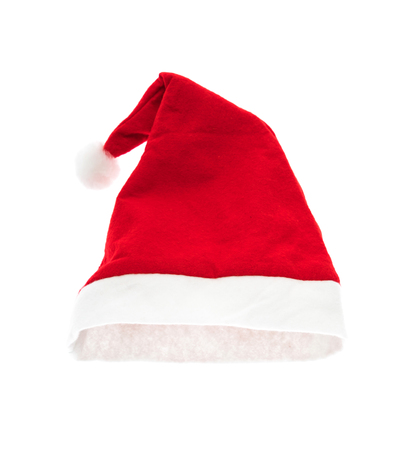 red hat: Santa red hat isolated on white background Stock Photo