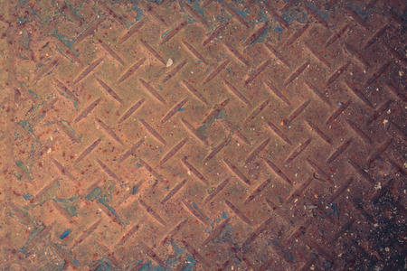 antiqued: Dirty metal plate ( Filtered image processed vintage effect. ) Stock Photo