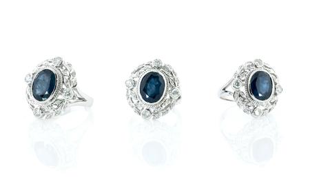 diamond background: Diamond ring isolated on white background.