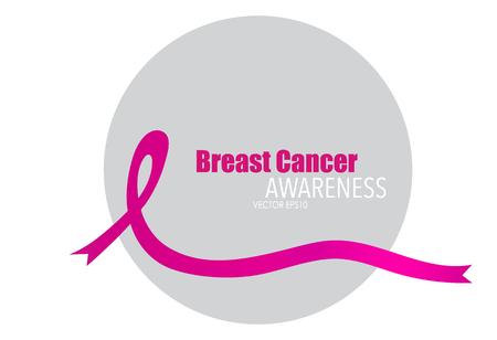 Breast cancer awareness pink ribbon, healthcare and medicine concept. Vector Illustration. Illustration