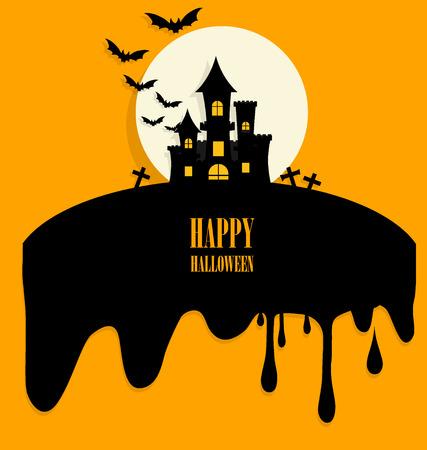 halloween greetings: Happy Halloween design background. Vector illustration.