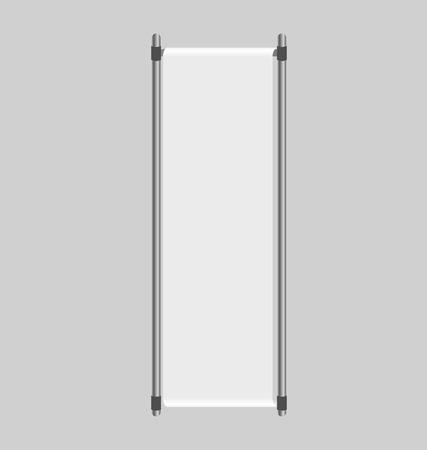 kakemono: Blank roll up banner display. Vector illustration.