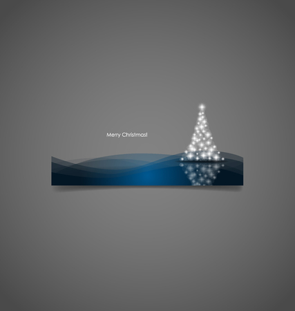 christmas tree illustration: Christmas background with Christmas tree, vector illustration. Illustration