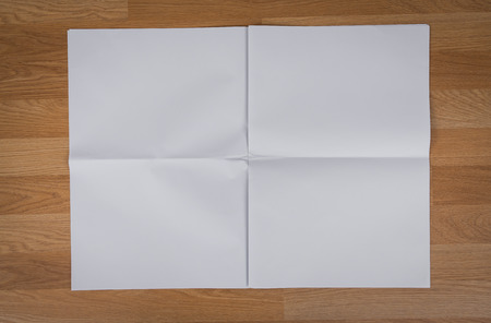 blank newspaper: Blank Newspaper with empty space mock up on wood background Stock Photo