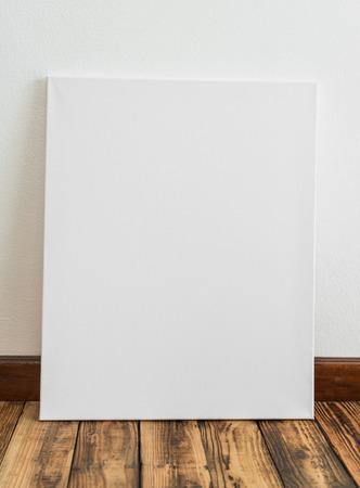 white canvas: White canvas on walll