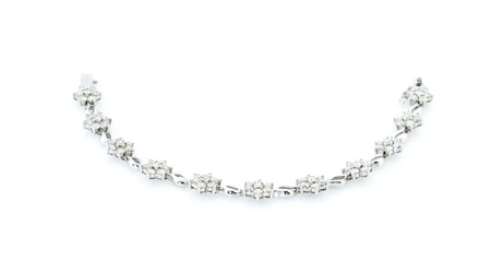 diamond necklace: Diamond necklace on a white background Stock Photo