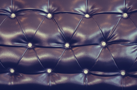 buttoned: luxury buttoned black leather ( Filtered image processed vintage effect. )