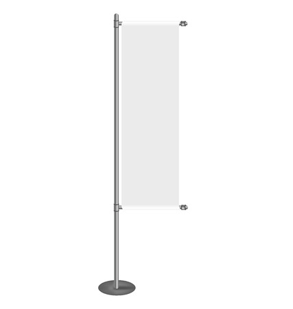 for designers: Vector blank banner flag for designers
