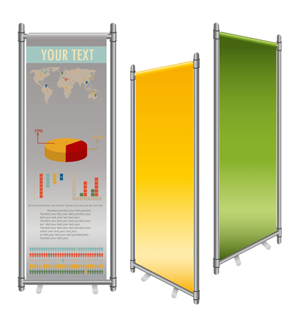 for designers: Vector blank roll up banner display template for designers Illustration