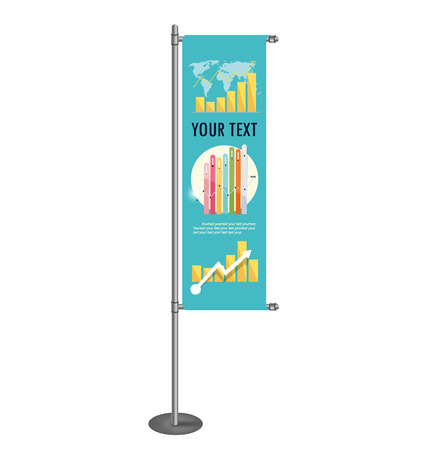 stand display: Vector blank banner flag for designers